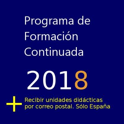 Programa de Formación Continuada de AEFA 2018 + Recibir unidades temáticas por correo ordinario en España