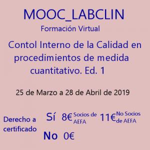 MOOC_LABCLIN_#05. Ed 1. Control interno de la calidad en procedimiento de medida cuantitativo
