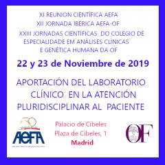 50 aniversario de AEFA. XI REUNIÓN CIÉNTIFICA AEFA y XII JORNADA IBÉRICA AEFA-OF