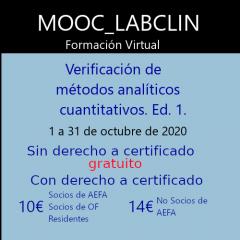 MOOC-LABCLIN-12-Ed-1- VERIFICACIÓN DE MÉTODOS ANALÍTICOS CUANTITATIVOS.
