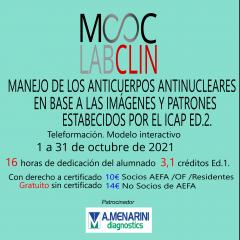 MOOC-LABCLIN-11-Ed-2-MANEJO DE LOS ANTICUERPOS ANTINUCLEARES EN BASE A LAS IMÁGENES Y PATRONES ESTABLECIDOS POR EL ICAP.
