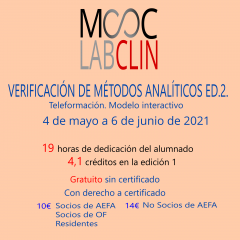 MOOC-LABCLIN-12-Ed-2- VERIFICACIÓN DE MÉTODOS ANALÍTICOS CUANTITATIVOS.